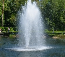 do fountains aerate ponds