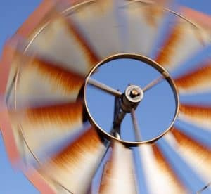 windmill operates during low wind