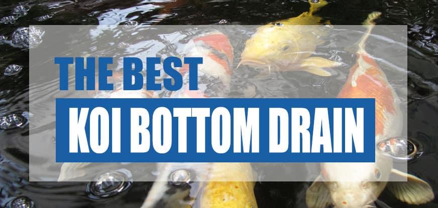 best bottom drain for koi ponds