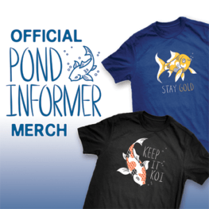 pond informer t-shirts make great gifts for pond and fish lovers