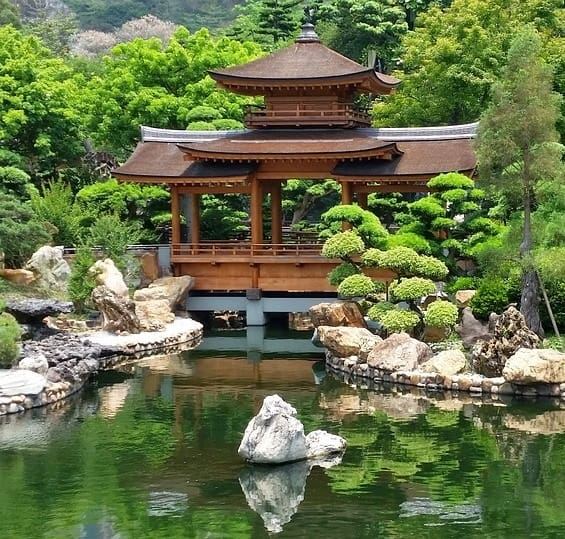A historic pond built as a representation of power and spirituality