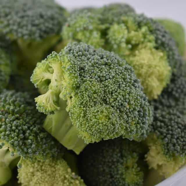 Broccoli should be cooked and softened before feeding to koi