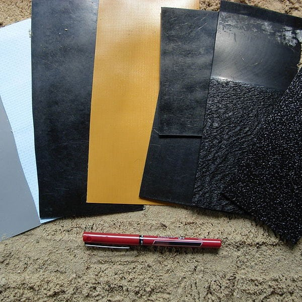 pictures of different pond lake liner materials