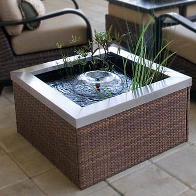 High quality patio container pond made of fiberglass