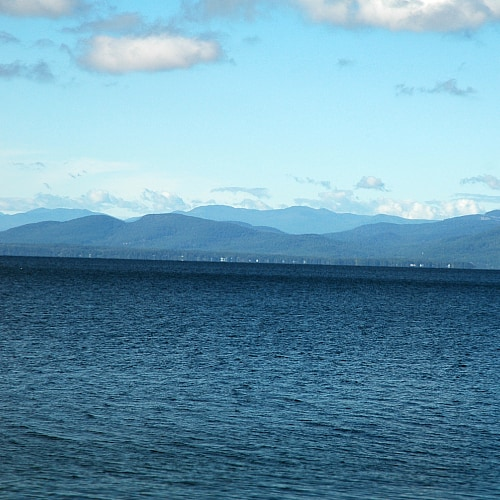 view of Lake Champlain from Vermont